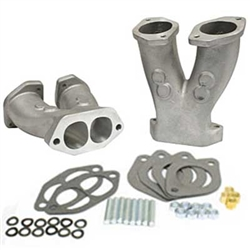 EMPI 43-1035 - GTV-2 STAGE 2 MATCH PORTED TALL MANIFOLDS W/ NOS BOSS FOR HPMX / IDF / DELLORTO CARBURETORS - PAIR