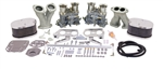 EMPI 43-9317 - EMPI Deluxe Dual 40 IDF Carb Kit With EMPI Billet Aluminum Air Cleaners