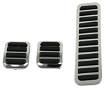 PEDAL COVERS, BRAKE, CLUTCH & ACCE., 3-PIECE SET
