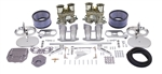 EMPI 47-7295 - EMPI DUAL 44 HPMX CARBURETOR KIT FOR T2/T4 WITH CHROME AIR CLEANERS