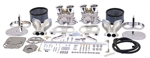EMPI 47-7317 - EMPI DUAL 40 HPMX CARBURETOR KIT WITH HEXBAR LINKAGE & CHROME STEEL AIR CLEANERS