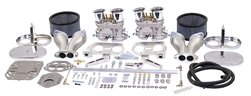 EMPI 47-7319 - EMPI DUAL 44 HPMX CARBURETOR KIT WITH HEXBAR LINKAGE & CHROME STEEL AIR CLEANERS