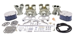 EMPI 47-9319 - HPMX DELUX DUAL 44 HPMX CARBURETOR KIT WITH BILLET ALUMINUM AIR CLEANERS