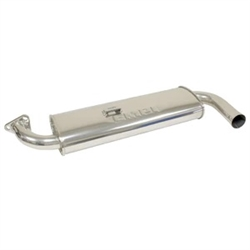 EMPI 55-3668 - CERAMIC COATED Single Quiet Black with Chrome Tip - Type 3 - SMALL 3 BOLT MUFFLER ONLY