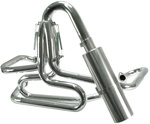 EMPI 55-3750 - Competition Exhaust - 1 1/2- - Ceramic Coated w/ Stainless Steel Off-Road Muffler