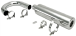 EMPI 56-3782 - S/S Racing Muffler Complete Assembly FOR COMPETITION EXAUST SYSTEMS