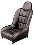 EMPI 62-2752 - RACE TRIM - BLACK VINYL BACK / BLACK VINYL SEAT - PAIR  - SUSPENSION SEAT