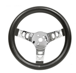 "EMPI 79-4110 - EMPI Poly-Foam Steering wheel, 3 spoke, 13 ½"" Dia., 3 ½"" Dish / 3 ½"""