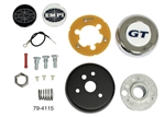EMPI 79-4115 - EMPI Steering Wheel Adapter Kit, Type 1 Bug and Ghia, 60-74½, I.D. Spline Area .795, O.D. Spine Area .835, 40 Splines