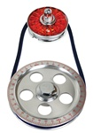 EMPI 8650 - Standard Size Pulley Kit w/ Alt Pulley Cover - Red