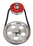 EMPI 8651 - Standard Size Pulley Kit w/ Alt Pulley Cover - Blue
