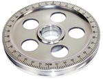 Polished Crankshaft Pulley w/ Holes - Red Numbers