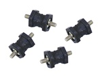 Cooler Mounting Dampers - Set of 4