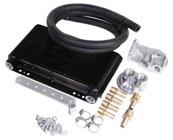 EMPI 9263 - 72 Plate Oil Cooler Kit w/ Bypass Adapter