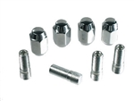 EMPI 9534 - CHROME NUT & STUD KIT - M14-1.5 TO 1/2-20 FOR STEEL WHEELS - 4 SETS