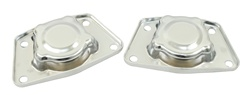 EMPI 9545 - CHROME SPRING PLATE CAPS - SWING AXLE - PAIR