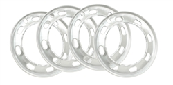 EMPI 9555 - ALUMINUM BEAUTY RINGS - FOR STOCK RIMS 1968-1972 - X4