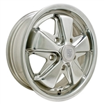 "EMPI 9680 - 911 ALLOY RIM - Polished - ET 45 - BS 4 15/16"" - BALL SEAT - 5X130 - 15X5.5"""