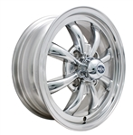 "EMPI 9684 - GT-8 - Polished - ET 30 - BS 4 3/8"" - 60* SEAT - 4X130 - 15X5.5"""