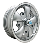 "EMPI 9691 - GT-5 - Silver w/ Polished Lip - ET 20 - BS 4"" - 60* SEAT - 5X205 - 15X5.5"""