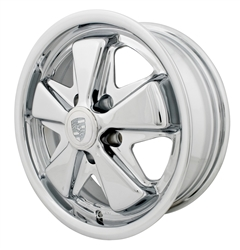 "EMPI 9694 - 911 ALLOY RIM - All Chrome -  ET 20 - BS 4"" - 60* SEAT -5X112 - 15""X5 1/2"""