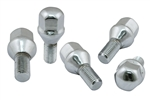 EMPI 9711 - CHROME LUG BOLTS - 12MM, 60*, SET OF 5, FOR EMPI 5X205 WHEELS