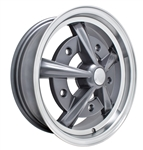 "EMPI 9752 - RAIDER - Anthracite w/ Polished Lip - ET 20 - BS 3 3/4"" - 60* SEAT - 5X205 - 15X5.5"""