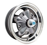 "EMPI 9754 - TORQUE STAR - Anthracite w/ Polished Lip - ET 16 - BS 3 1/2"" - 60* SEAT - 5X205 - 15X5.5"""