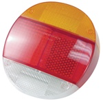 TAIL LIGHT LENS - RIGHT 73-79 - EURO STYLE - AMBER/RED/WHITE - EACH