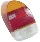 TAIL LIGHT LENS - LEFT OR RIGHT - 68-70 - EURO STYLE - AMBER/RED/WHITE - EACH