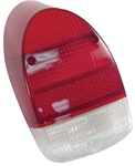 TAIL LIGHT LENS - LEFT OR RIGHT - 68-70 - RED/WHITE - EACH