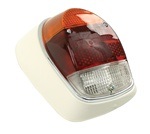 TAIL LIGHT ASSEMBLY - LEFT - 68-70 - EURO STYLE - PAINTED METAL