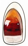 TAIL LIGHT ASSEMBLY - RIGHT - 68-70 - EURO STYLE - PAINTED METAL