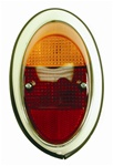 TAIL LIGHT ASSEMBLY - RIGHT - 61-67 - EURO STYLE - PAINTED METAL