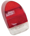 TAIL LIGHT LENS - LEFT 71-72 RED/WHITE - EACH