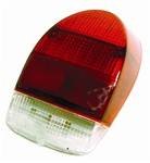 TAIL LIGHT LENS - RIGHT - 71-72 RED/WHITE - EACH