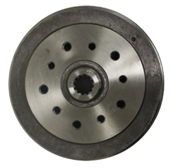 "EMPI 98-5002-7 - Rear Brake Drum – Porsche 5x130 & Chevy 5 4 3/4"" - Double Drilled -  Type 1 68-79, Ghia 68-74"