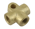 EMPI 98-6682-B / 803-611-755 - BRASS BRAKE LINE T FITTING