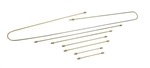 EMPI 98-6991-B / 111-698-700 - 7 PC METAL BRAKE LINE KIT - UPTO 1966 T1