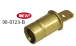 111 957 397 - Bulb Socket with Push-In Connector. Used in Instrument Panel, All Years - EMPI 98-8723-B