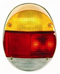 TAIL LIGHT ASSEMBLY - LEFT - T1 73-79 - GREY PLASTIC