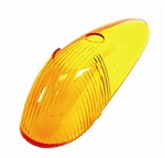 TURN SIGNAL LENS - LEFT OR RIGHT - 58-63 - AMBER - EACH