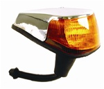 TURN SIGNAL ASSEMBLY - LEFT - 70-79 - AMBER - CHROME PLATED PLASTIC