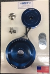 MST - BLUE - SOLID - STOCK V-BELT DESIGNED PULLEY KIT - COMPLETE WITH BELT & HARDWARE