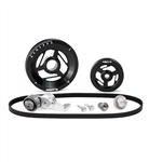 MST - BLACK - EXCALIBUR - COMPLETE SERPENTINE PULLEY SYSTEM