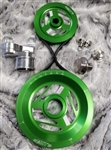 MST - KELLY GREEN - EXCALIBUR - COMPLETE SERPENTINE PULLEY SYSTEM