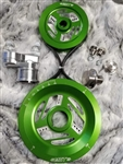 MST - KELLY GREEN - RAPTOR - COMPLETE SERPENTINE PULLEY SYSTEM
