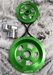 MST - KELLY GREEN- RENEGADE - COMPLETE SERPENTINE PULLEY SYSTEM