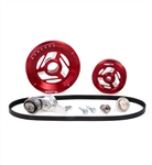 MST - RED - RAPTOR - COMPLETE SERPENTINE PULLEY SYSTEM