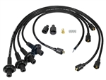 8MM TAYLOR SPIRO SPARK PLUG IGNITION WIRES - BLACK - VIRGIN SILICONE JACKET & CORE